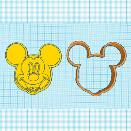 Download 3D printer templates Mickey cookie cutter, elnata