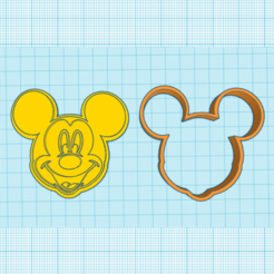 cortanteMickey.png Download STL file Mickey cookie cutter • 3D printer template, elnata