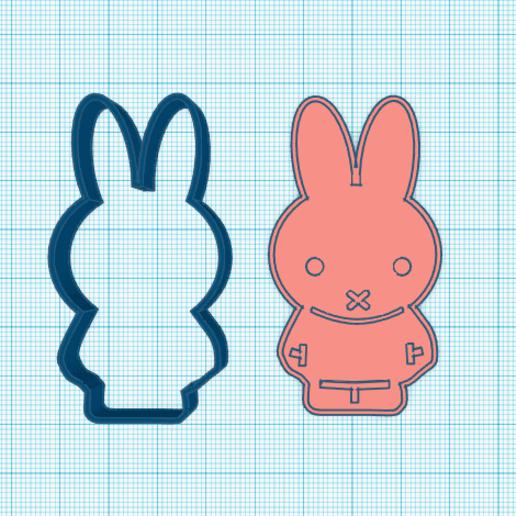 Download 3D printer designs Bunny cookie cutter, elnata