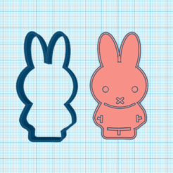 Download 3D printer designs Bunny cookie cutter, elnata