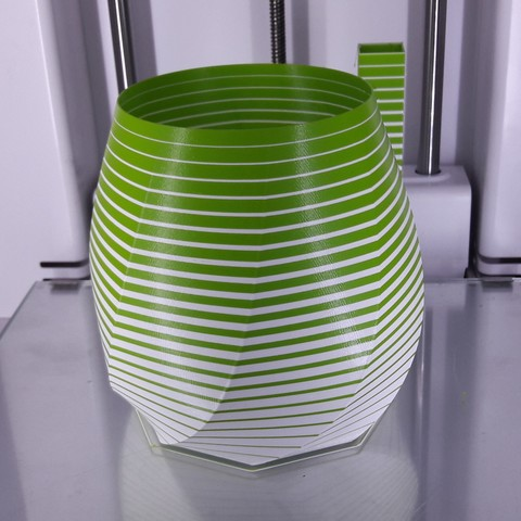 3d Printer Model Gradual Striped Vase Cults