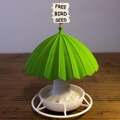 2-2.jpg Download STL file BIRD FEEDER (Free bird seed) • 3D print design, Ocrobus