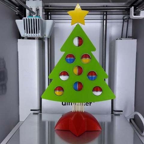 Download free 3D printing templates DESKTOP CHRISTMAS TREE, Ocrobus
