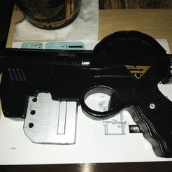 Download free 3D printing files Judge Dredd Lawgiver pistol, A_SKEWED_VIEW_3D