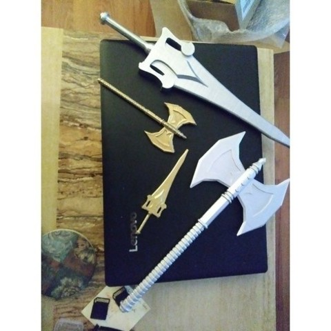 6a703db53247d0d2c861829f8800673f_preview_featured-1.jpg Download free STL file HE-MAN BATTLE AXE • 3D printer object, A_SKEWED_VIEW_3D