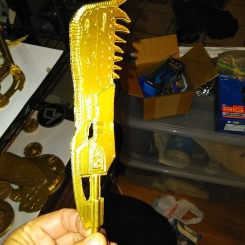 Descargar archivo 3D gratis Cazador de monstruos Jawbone Gran Espada, A_SKEWED_VIEW_3D
