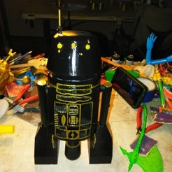 Download free 3D printing templates Star Wars R5-J2 Imperial Astromech Droid, A_SKEWED_VIEW_3D