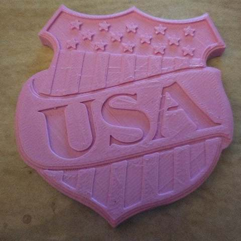 Free 3D printing models USA - Happy Birthday America coin / wall