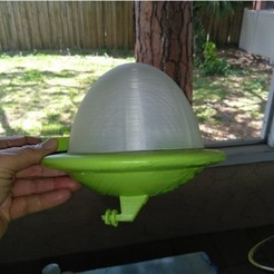 Free 3D printer files JETSONS CAR, A_SKEWED_VIEW_3D