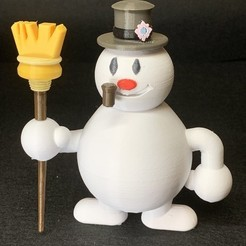 Download free 3D printer designs Frosty The Snowman Multi Color MMU 9 colors, A_SKEWED_VIEW_3D