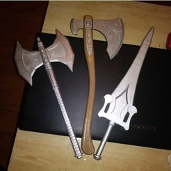 Download free 3D printer templates HE-MAN SWORD, A_SKEWED_VIEW_3D