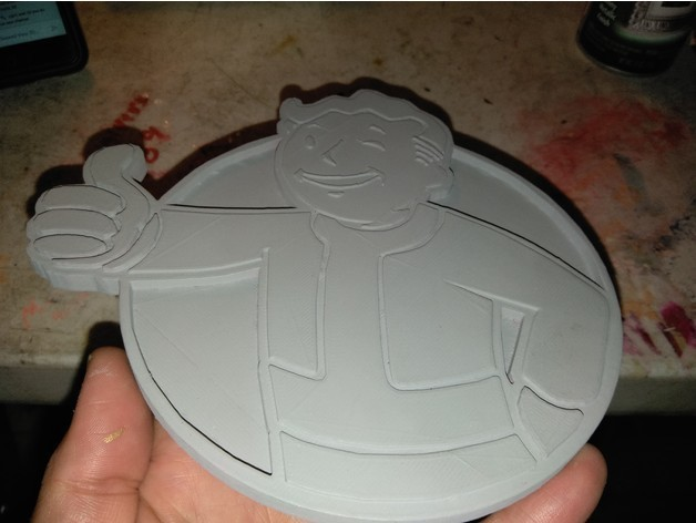 521dbd0ebf5749dbe933f6403743025b_preview_featured.jpg Download free STL file FALLOUTs VAULT BOY EMBLEM • 3D print template, A_SKEWED_VIEW_3D