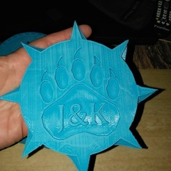 Free 3d printer model JOHN & KENs CUSTOM SHIELD, A_SKEWED_VIEW_3D