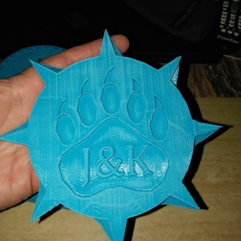 Modèle 3D gratuit JOHN & KENs SHIELD CUSTOM SHIELD, A_SKEWED_VIEW_3D