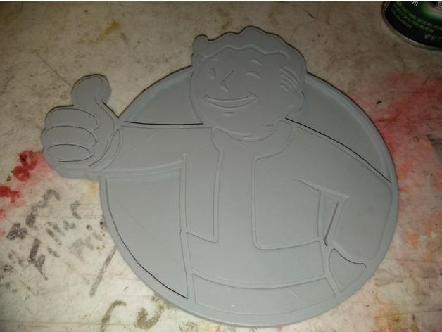 f0af551b63061d3c41826716f48daf6c_preview_featured.jpg Download free STL file FALLOUTs VAULT BOY EMBLEM • 3D print template, A_SKEWED_VIEW_3D
