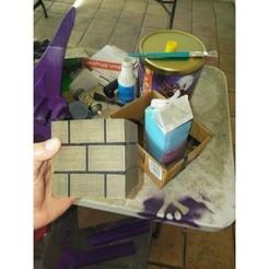 Free 3D print files MARIO BRICK BLOCK, A_SKEWED_VIEW_3D