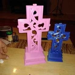 Descargar Modelos 3D para imprimir gratis Cruz - sin soportes, A_SKEWED_VIEW_3D