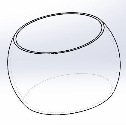 Verre arrondi vue 2.JPG Download STL file Round Cup - Rounded Glass • 3D printer object, Mr-Teacher