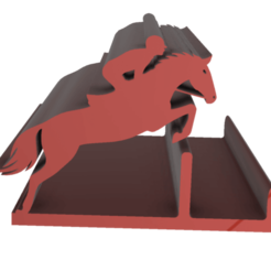 JUMPING_HORSE_HOLDER_FIXED.png Download free STL file JUMPING HORSE PHONE HOLDER • 3D printable model, admis