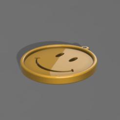Download free 3D model SMILEY MEDAL, admis