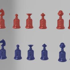 KNURLED CHESS 7.png Télécharger fichier STL ÉCHECS NOMBREUX • Modèle imprimable en 3D, admis