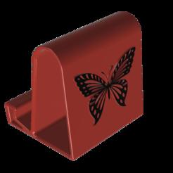 My Mobile best holder butterfly Fillet v1.png Download free STL file Phone Holder 1 • 3D print design, admis