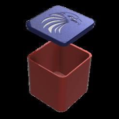 MY ROUNDED BOX EAGLE v0.png Télécharger fichier STL gratuit BOÎTE ARRONDIE 60 MM * 60 MM • Plan pour imprimante 3D, admis