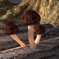 Download free 3D print files Mushroom trio, V-design