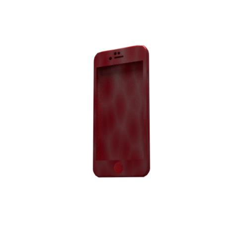 Free STL iphone 6 case simple, V-design