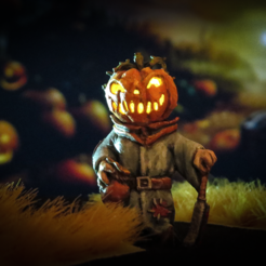 Free 3D print files Pumpkin Head (Halloween), BSGMiniatures