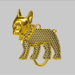 b1.jpg Download STL file bulldog necklace • Object to 3D print, EsraKaramuk