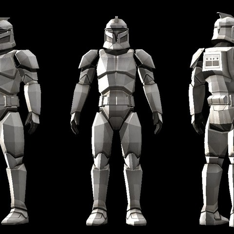 3d Print Files Low Polygon Star Wars Clone Trooper Model, Zebracan