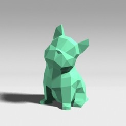 3D printer models LOW POLYGON FRENCH BULLDOG MODEL 3D PRINT MODEL, zebracan