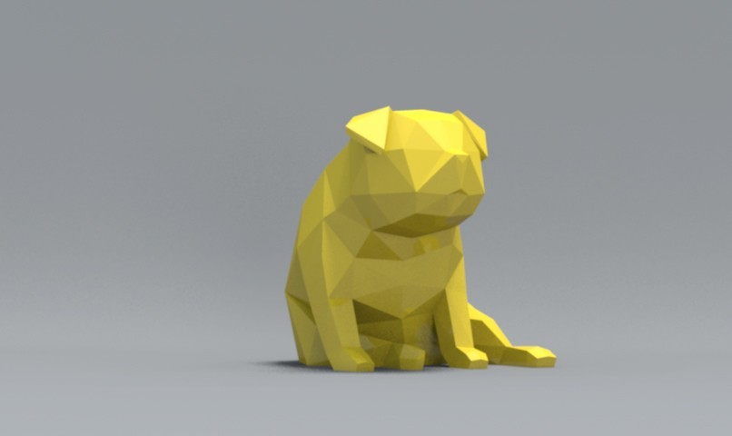 pp03.jpg Download OBJ file Low Polygon Pug dog model 3D print model • 3D printing model, zebracan
