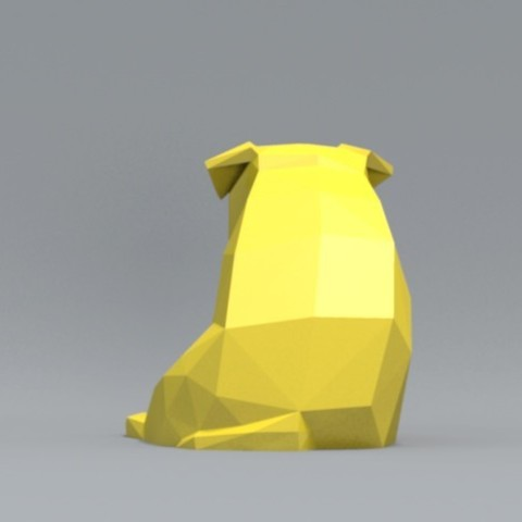 pp02.jpg Download OBJ file Low Polygon Pug dog model 3D print model • 3D printing model, zebracan