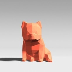 STL files LOW POLYGON Pom Bear DOG MODEL 3D PRINT MODEL, zebracan