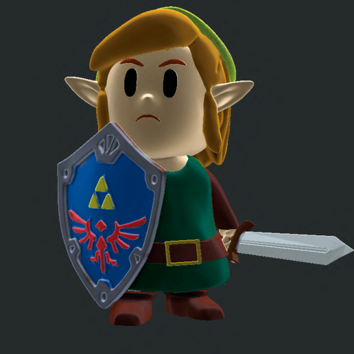 zelda.png Télécharger fichier STL gratuit La légende de Zelda : Link Awakening • Objet imprimable en 3D, RodrigoMoraes