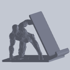 ironman holder.png Download STL file iron man cellphone holder • Model to 3D print, aanro14