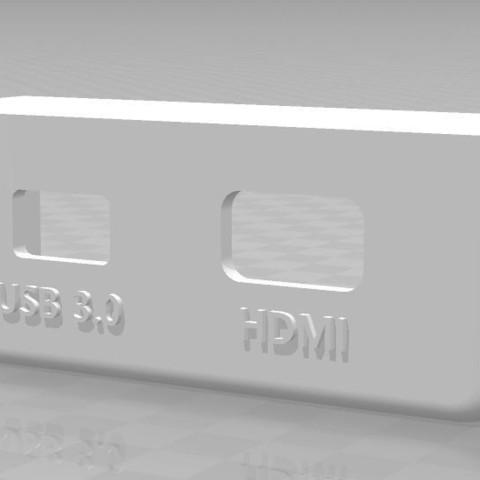 Télécharger fichier imprimante 3D gratuit Support pour prise HDMI et USB pour Oculus Rift , SEBB