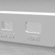 Fichier imprimante 3D gratuit Support pour prise HDMI et USB pour Oculus Rift , SEBB