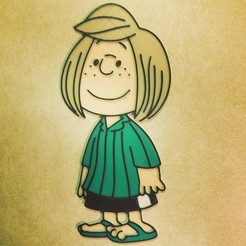 Download free STL files Peanuts - Peppermint Patty, DomDomDom