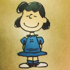 Free 3D printer files Peanuts - Lucy van Pelt, DomDomDom