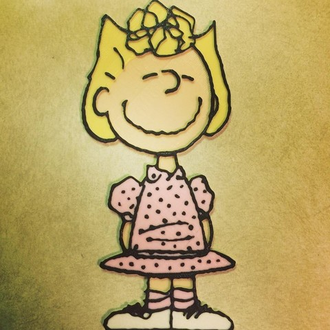 Download free 3D printing templates Peanuts - Sally Brown, DomDomDom