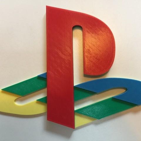 Download free STL Original PS Logo (4 Color) ・ Cults
