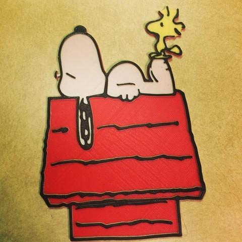 Download free 3D printer files Peanuts - Snoopy & Woodstock, DomDomDom