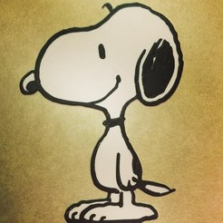 Download free 3D printer designs Peanuts - Snoopy, DomDomDom