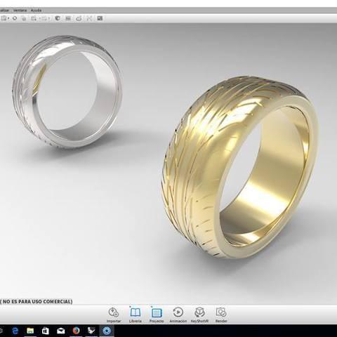 Modèle 3D anneau de jante, goncastorena