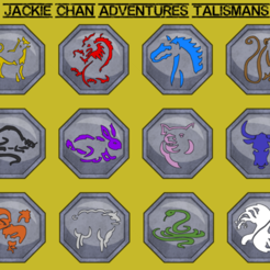 Download free STL files jackie chan talismans, goncastorena