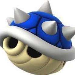 Download free 3D model blue shell mario bros, goncastorena