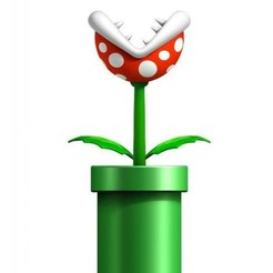 Download free 3D printer designs Mario bros plant, goncastorena